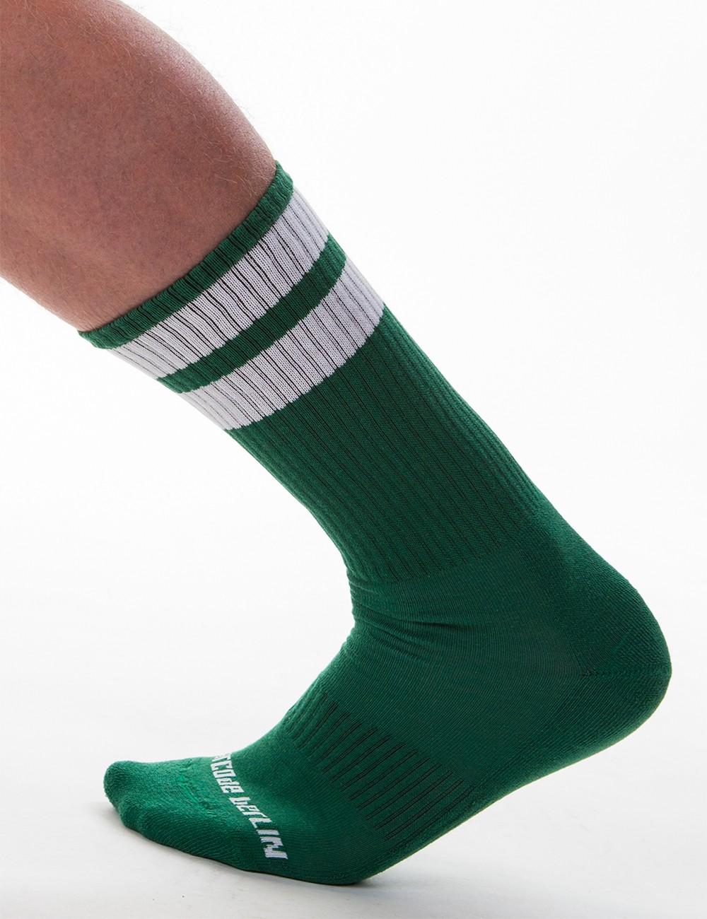 Gym Socks - Army-White