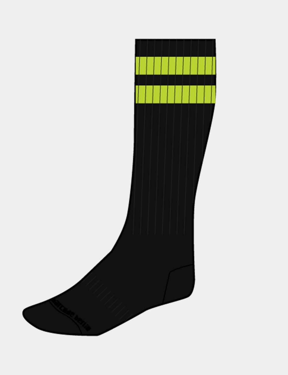 Gym Socks - Black-Green