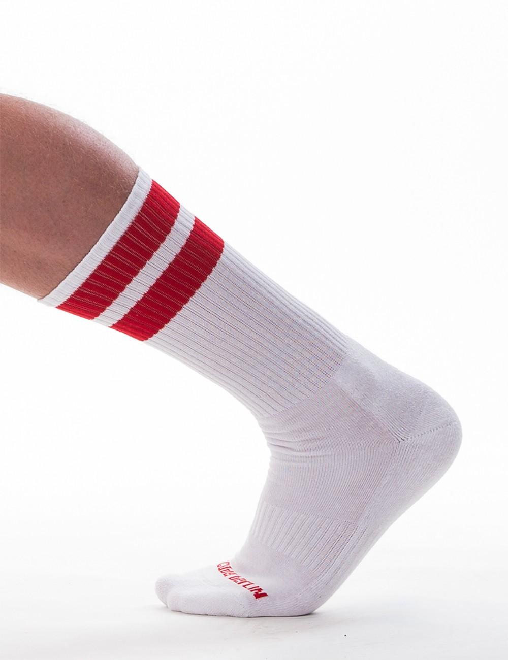 Gym Socks - White-Red