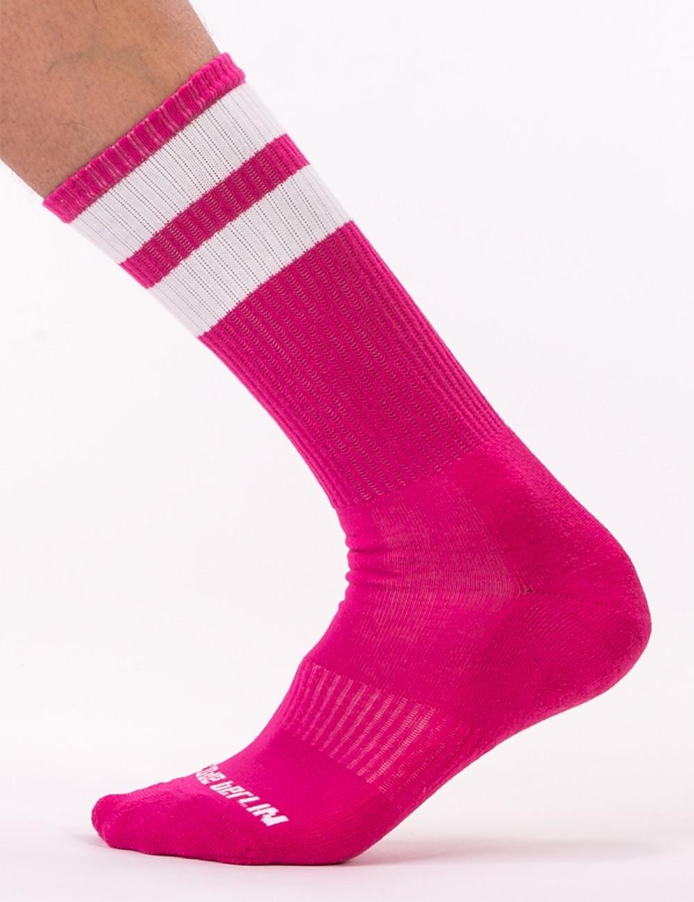 Gym Socks - Pink-White