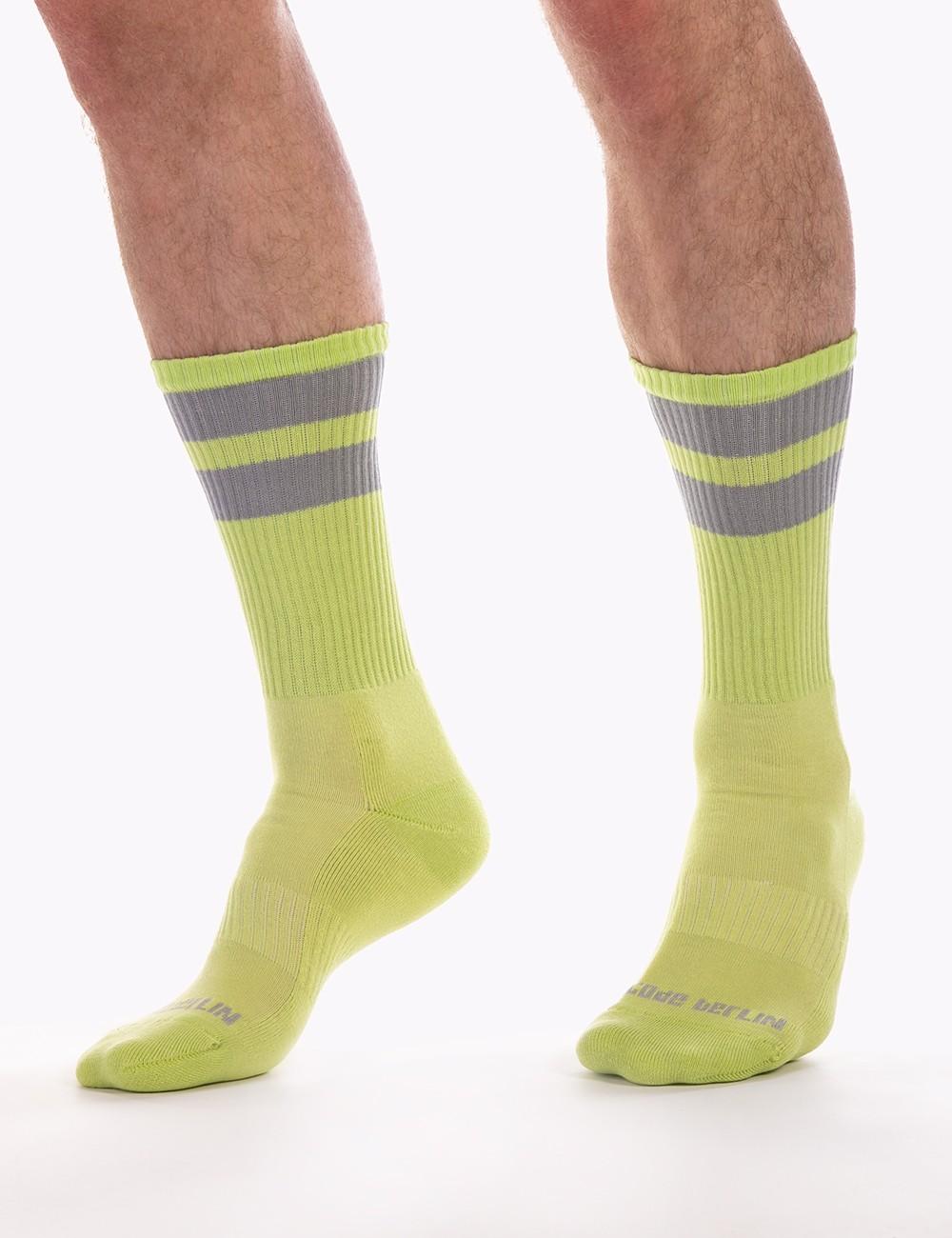 Gym Socks - Neongreen-Grey