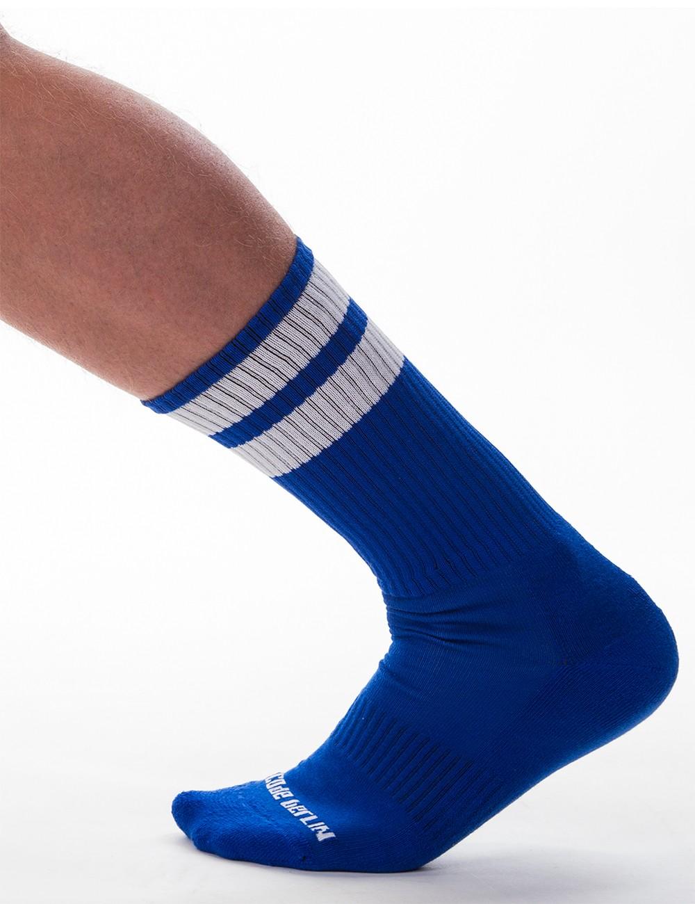 Gym Socks - Royal-White
