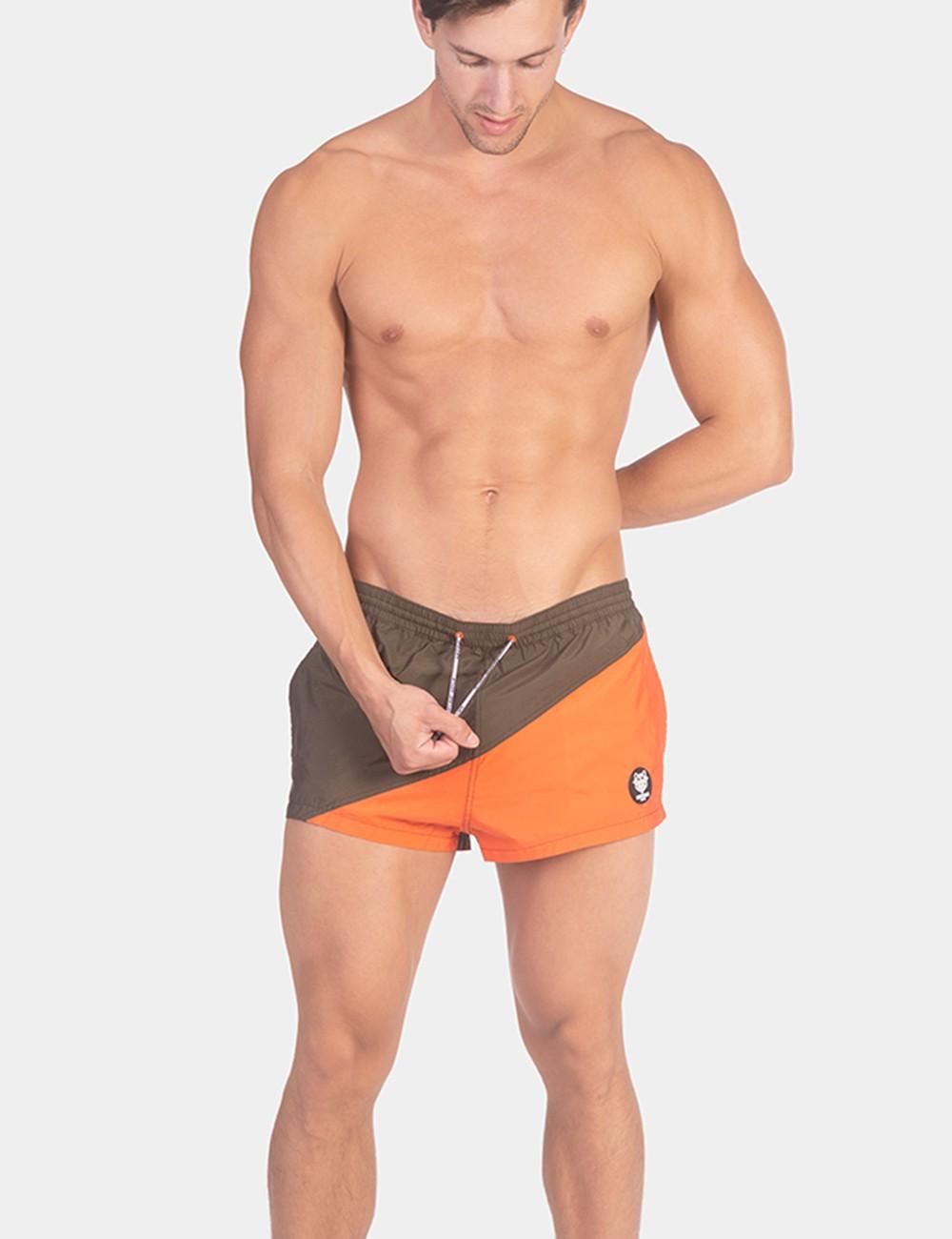 Swim Short Capi - Army-Orange