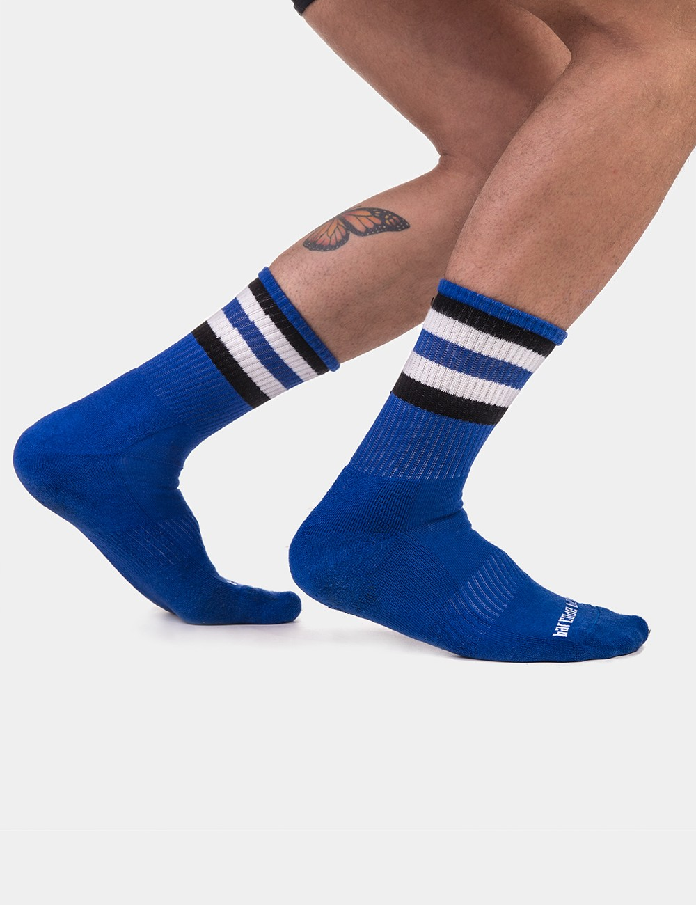 Half Fetish Socks Stripes -...